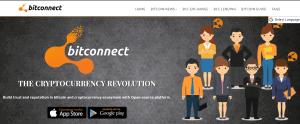 Bitconnect homepage