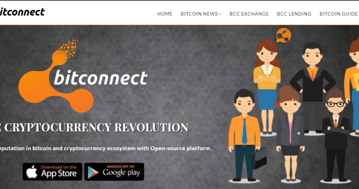 Bitconnect homepage