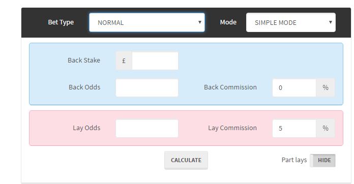 Betting Calculator Screenshot