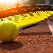 tennnis racquet and ball
