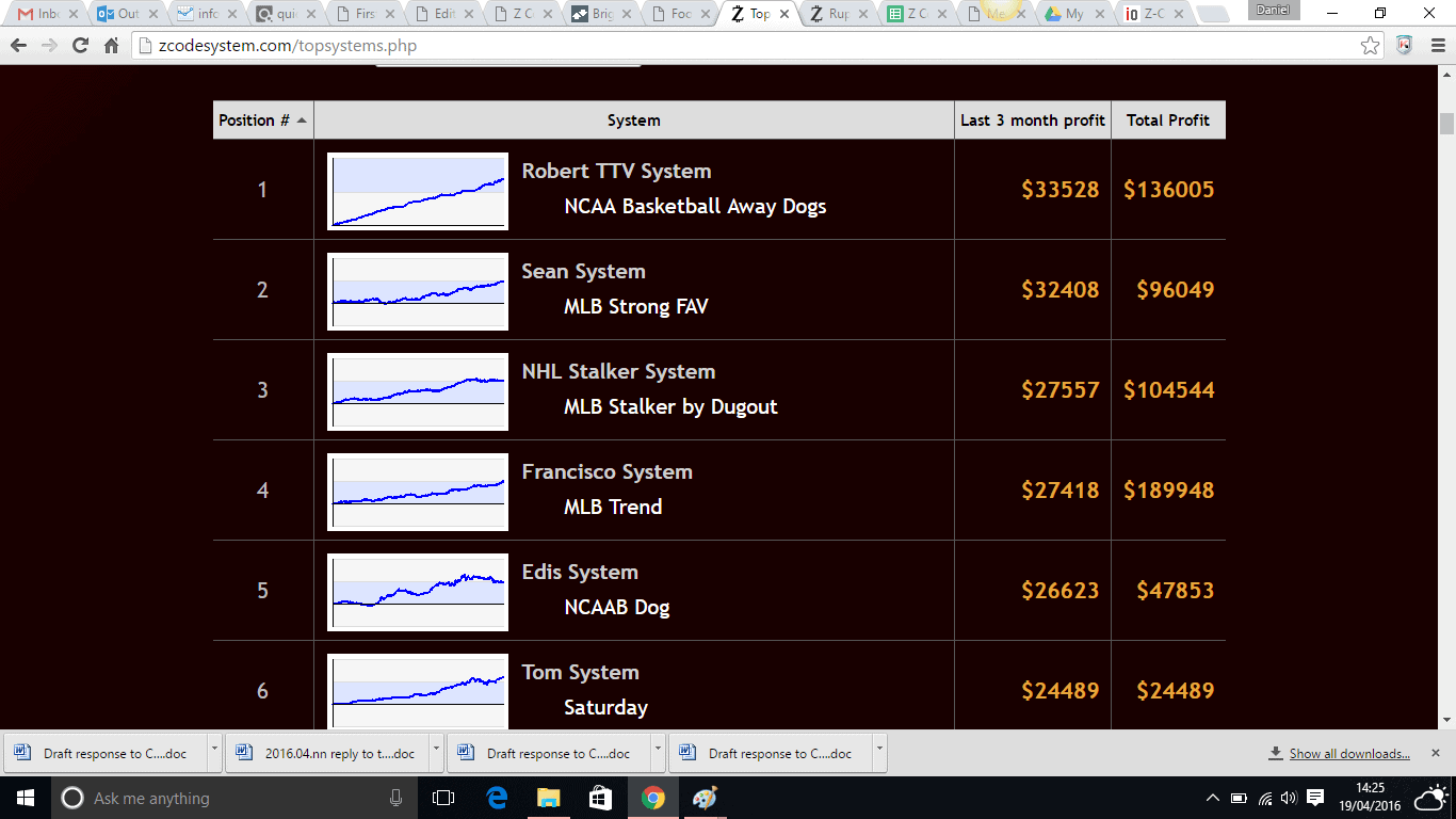 Automated Betting System Screenshot