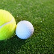 Golf and tennis ball