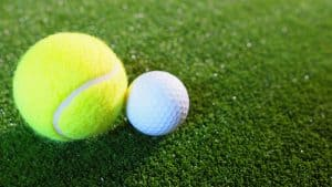 Golf and tennis ball