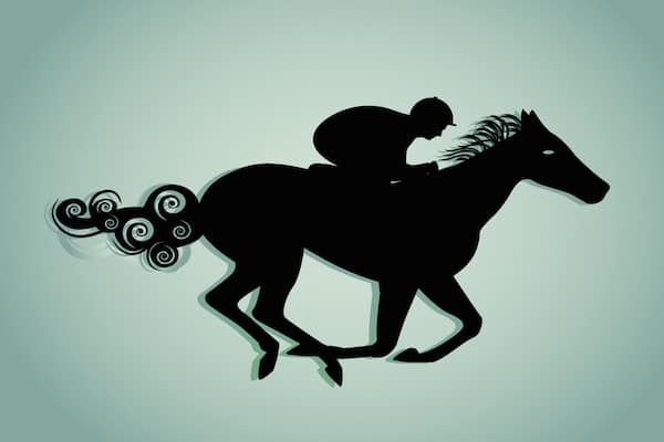 Horse Racing Silhoutte