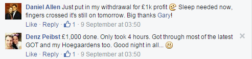 Sky Bet Facebook Comment