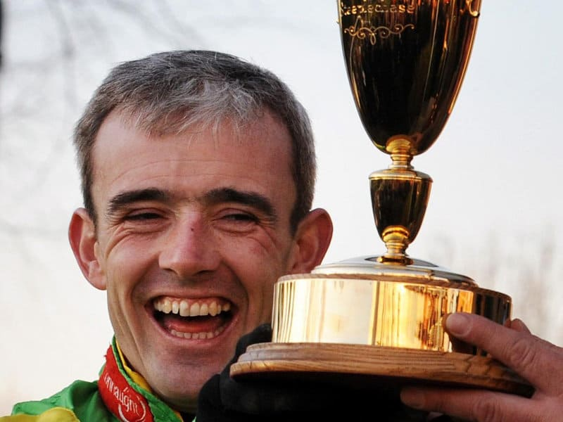 Ruby Walsh with Trophy