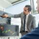 Men trading stocks
