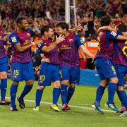 barcelona celebrate goal
