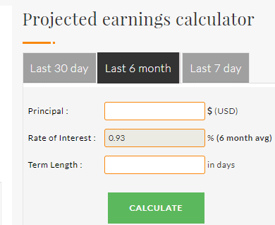 Bitcoin Projected Earnings Calculator