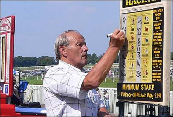 Placing bets with on-course bookie