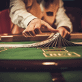croupier behind table