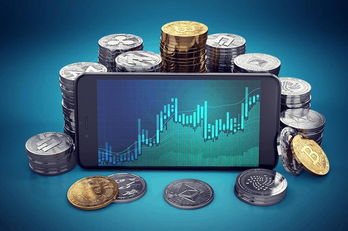 Money surrounding a smartphone