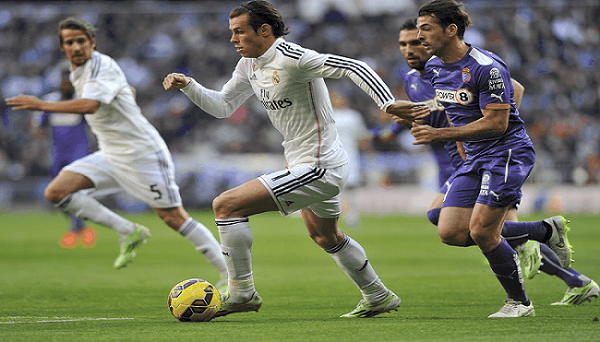 Gareth Bale playing football for Real Madrid