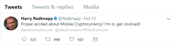 Harry Redknapp backing Electroneum