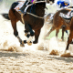 horses galloping through sand