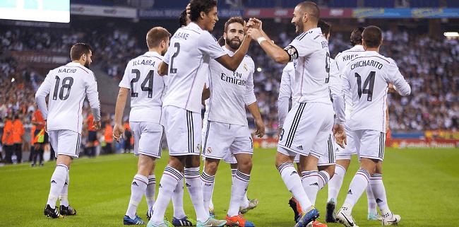 real madrid celebrating goal
