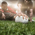 rugby players on ground