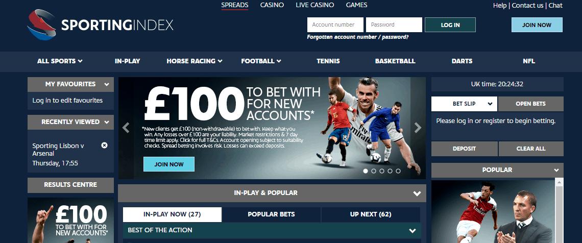 sport index spread betting